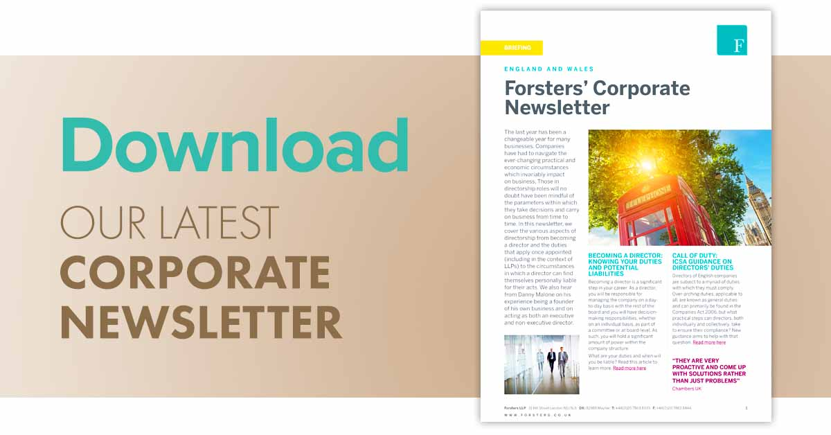 Click here to download our latest Corporate newsletter in PDF format