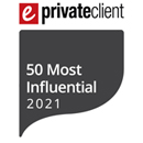 Nick Jacob recognised as one of ePrivateclient's 2021 50 Most Influential