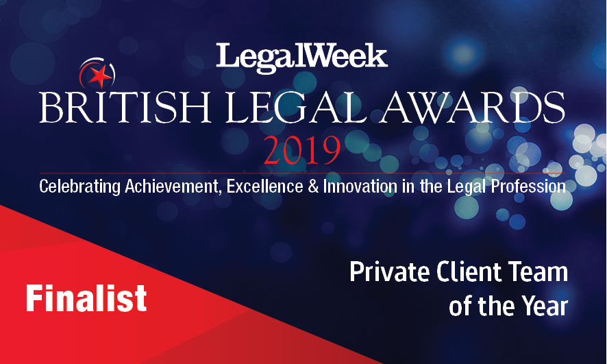 Forsters shortlisted for Private Client Team of the Year at the British Legal Awards