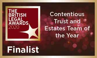 Forsters shortlisted as a finalist for the Contentious Trusts and Estates Team of the Year award
