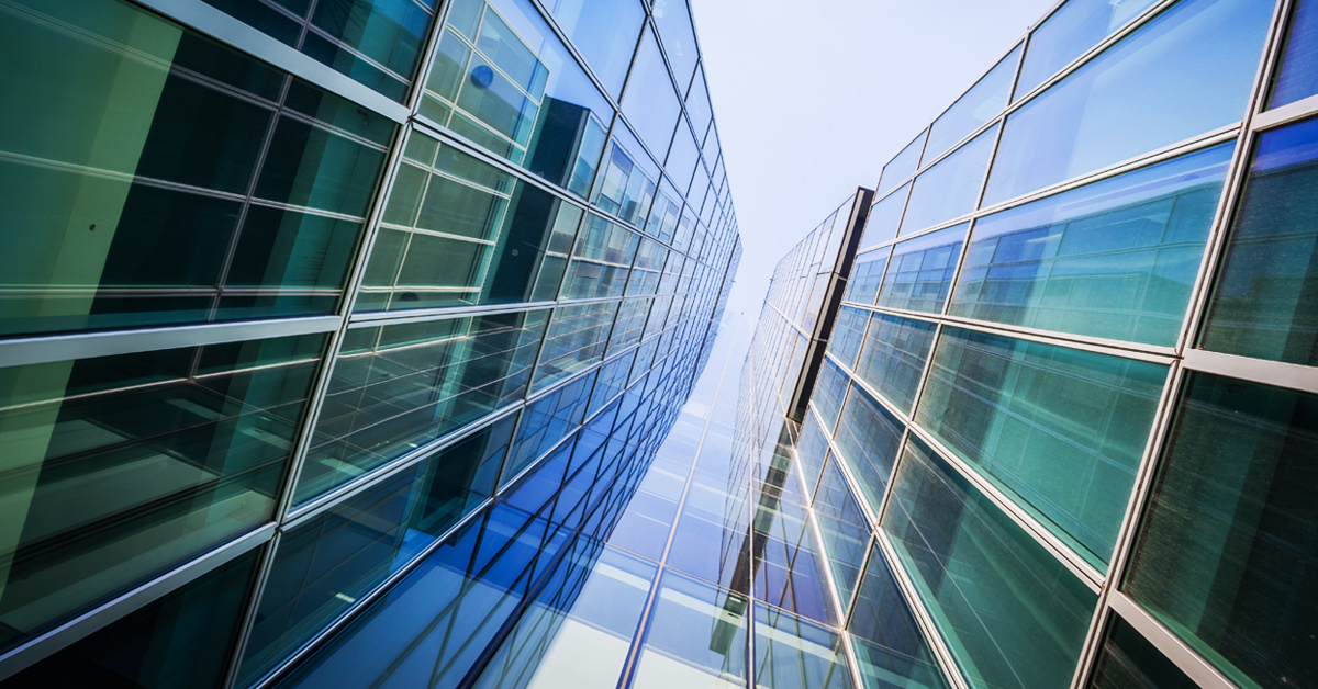 An abstract commercial building