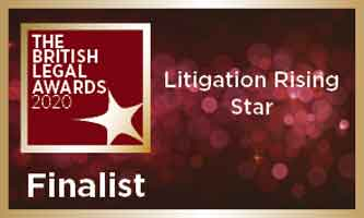 Dispute Resolution Senior Associate, Caroline Harbord, shortlisted as a finalist for the Litigation Rising Star award