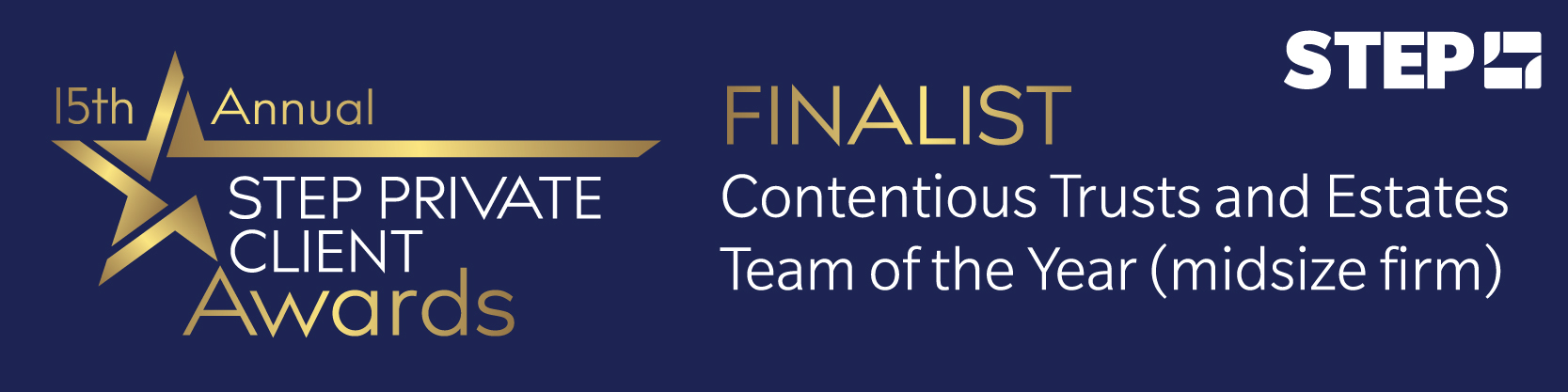 Forsters shortlisted for Contentious Trusts and Estates Team of the Year (midsize firm) at the STEP Private Client Awards 2020/21