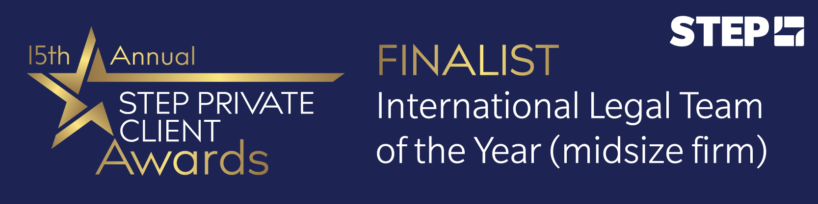 Forsters shortlisted for International Legal Team of the Year (midsize firm) at the STEP Private Client Awards 2020/21