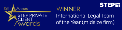 2020 STEP International Legal Team of the Year (midsize firm)