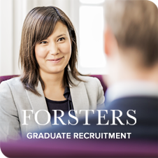 Graduate Recruitment at Forsters | Expect More at Forsters LLP