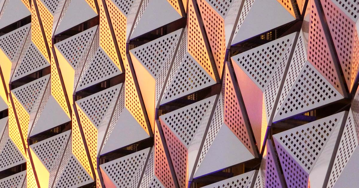 An image of some modern cladding on a building.