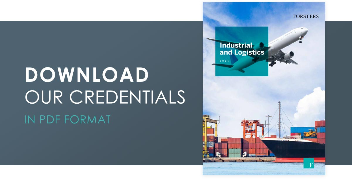 Click here to download our Logistics and Industrial credentials in PDF format