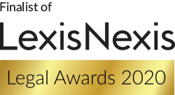 Finalist of the 2020 Lexis Nexis Sustainability Award Logo