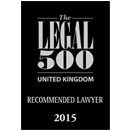 Legal 500 UK, 2015 Recommended Lawyer