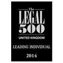 Legal 500 UK Leading Individual 2014