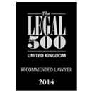 Legal 500 Recommended Lawyer 2014 Logo