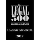 Legal 500 UK 2017 - Leading Individual