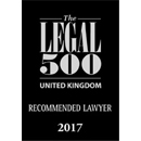 The Legal 500 UK 2017 - Recommended Lawyer