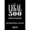Legal 500 UK, Recommended Lawyer 2019