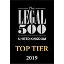 Legal 500 UK, Top Tier Firm 2019