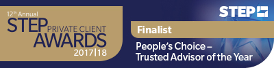 STEP Private Client Award - Trusted Advisor of the Year nominee