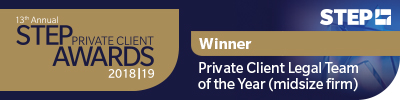 STEP Private Client Legal Team of the Year (midsize firm)