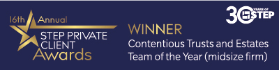 Winners - Contentious Trusts and Estates Team of the Year (midsize firm)