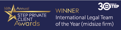 Winners - International Legal Team of the Year (midsize firm)
