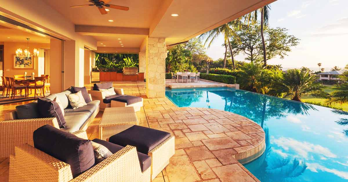 A luxury property - holiday home abroad