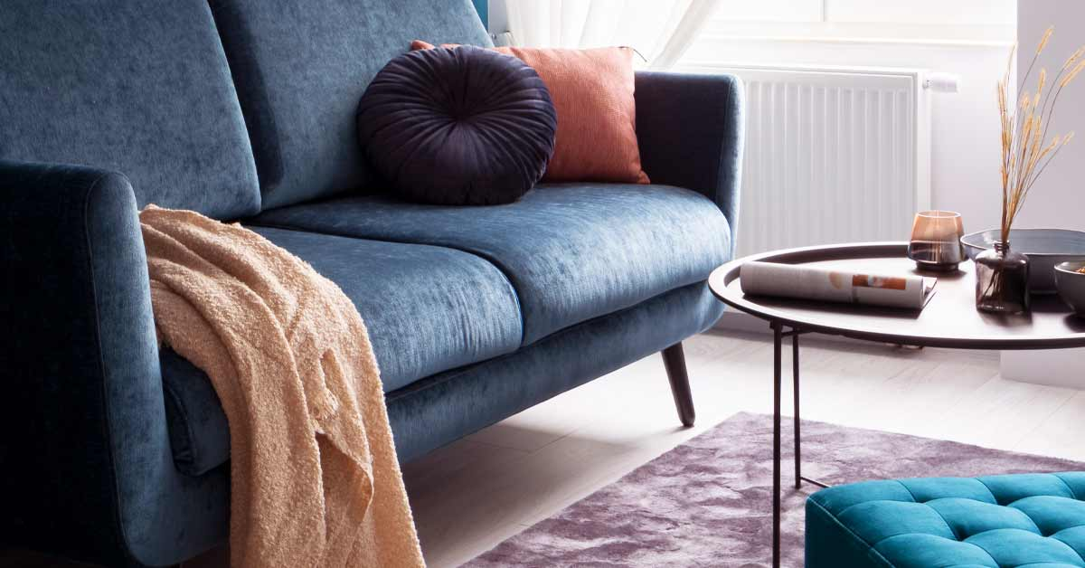 A high-value home living room scene