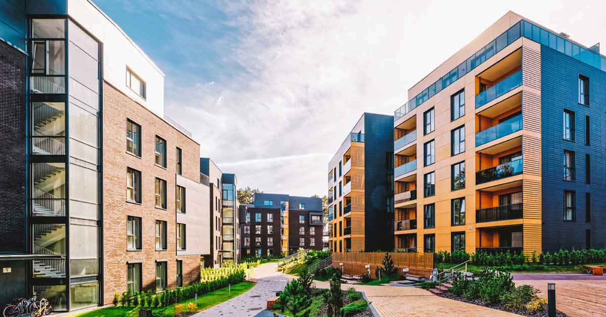 An image of some student accommodation / residential flats