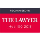 Recognised in The Lawyer Hot 100 2018